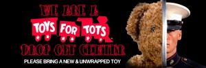 We are a Toys for Tots Drop off Center